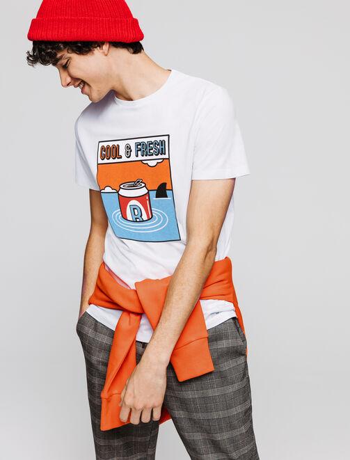 T-shirt manches courtes print humour  homme