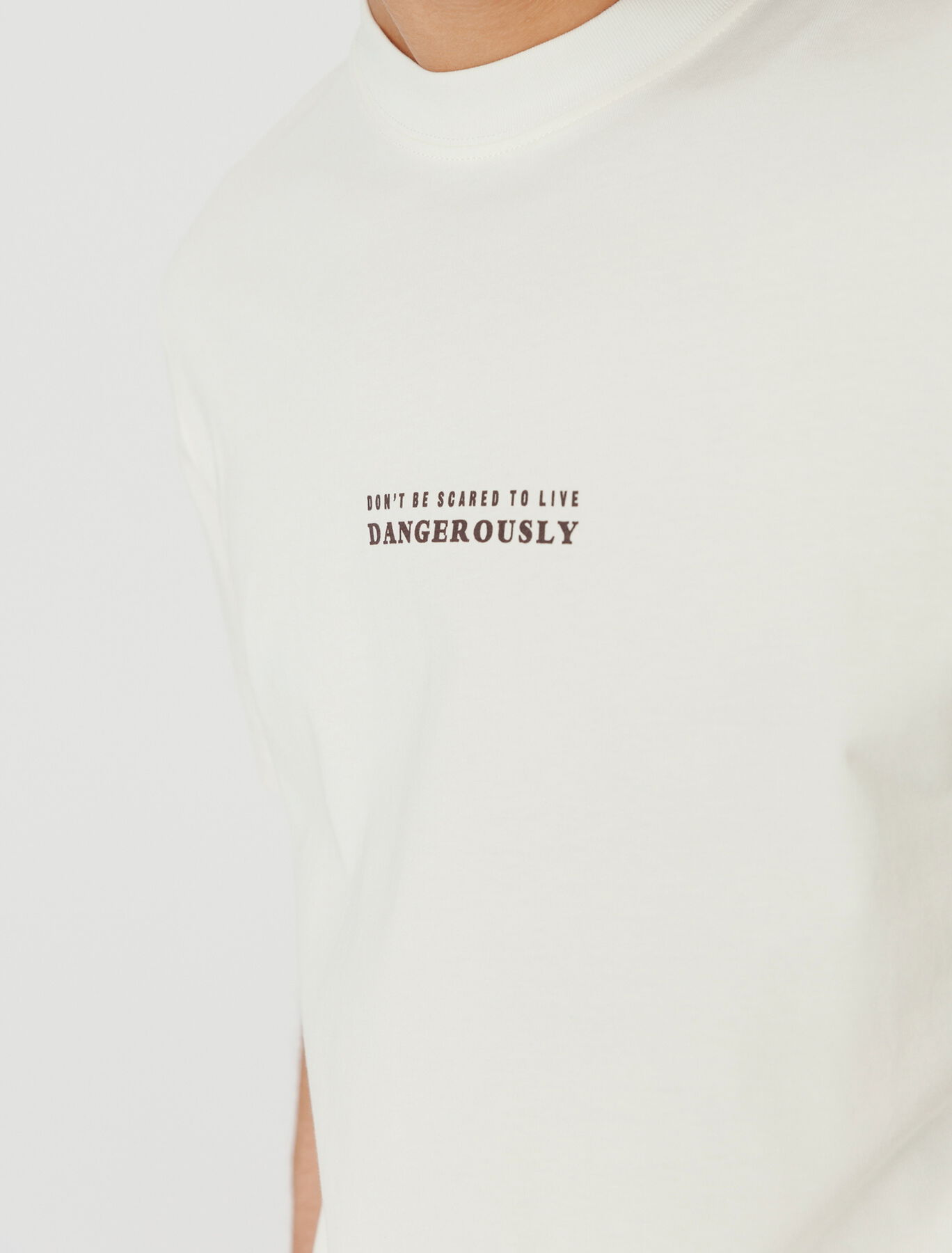 T-shirt imprimé devant dos en coton BIO
