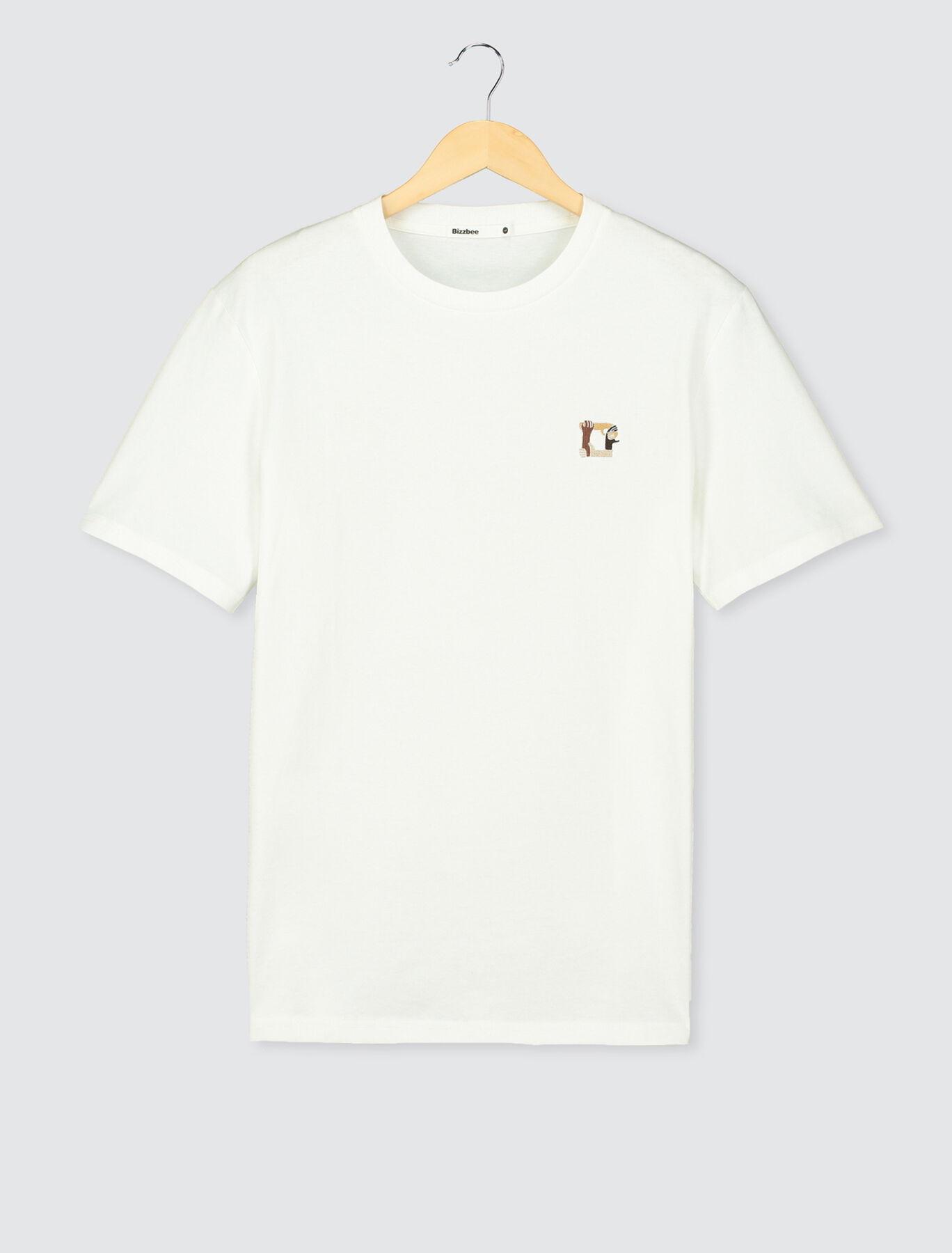 T-shirt broderie mains