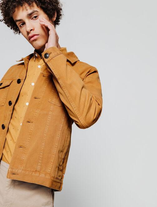 Veste en jean colorée homme