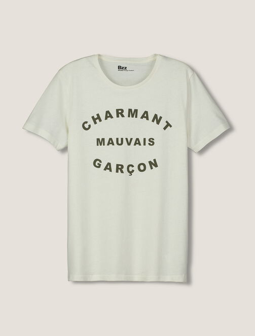 "T-shirt ""Charmant mauvais garçon"" homme"