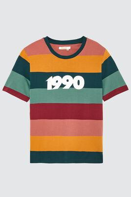 """T-shirt rayé """"1990"""""""