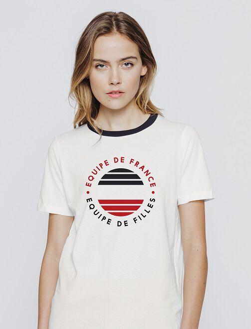 """T-shirt """"équipe de France, équipe de filles"""" femme"""