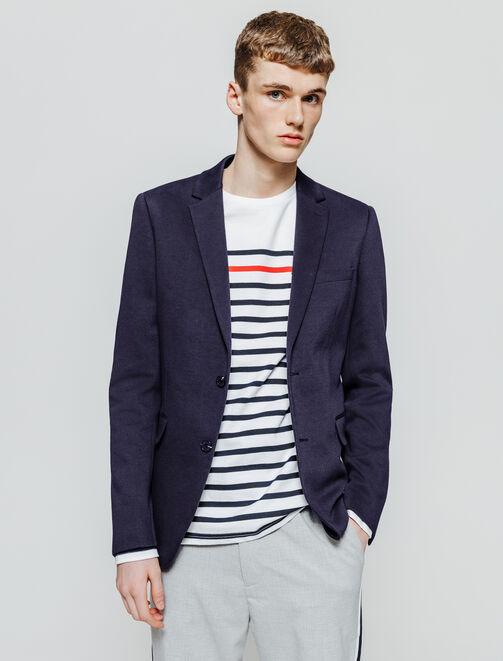 Veste de costume coupe droite coton stretch homme