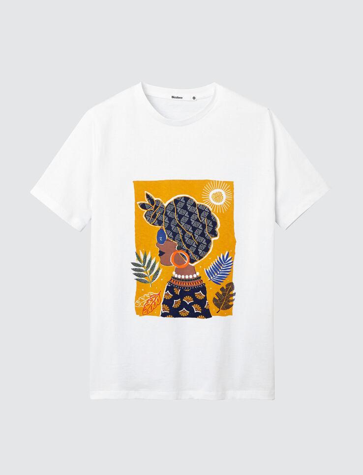 T-shirt visage femme