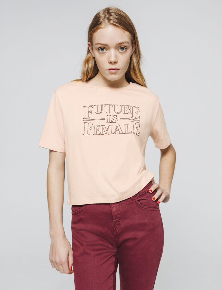 "T-shirt à message ""FUTURE IS FEMALE"""