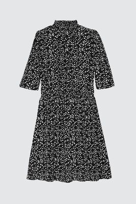 Robe Fluide Col Montant