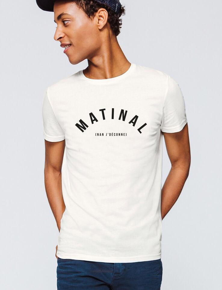 """T-shirt message """"Matinal"""""""