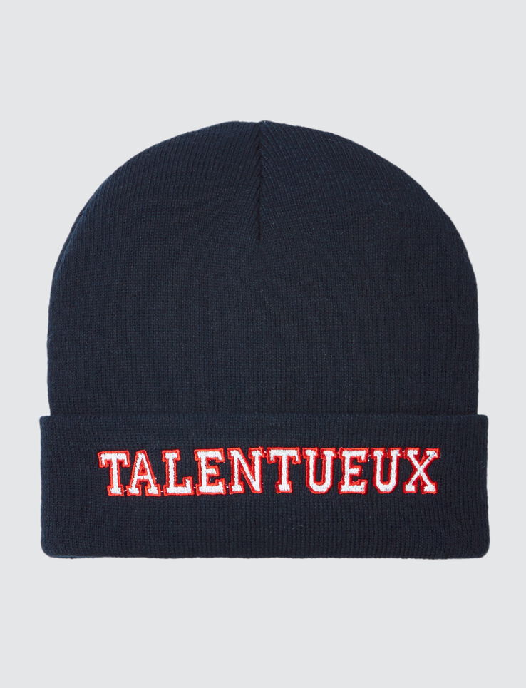 "Bonnet Message ""Talentueux"""
