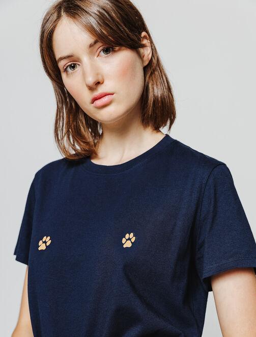 T-shirt fantaisie pattes de chat femme
