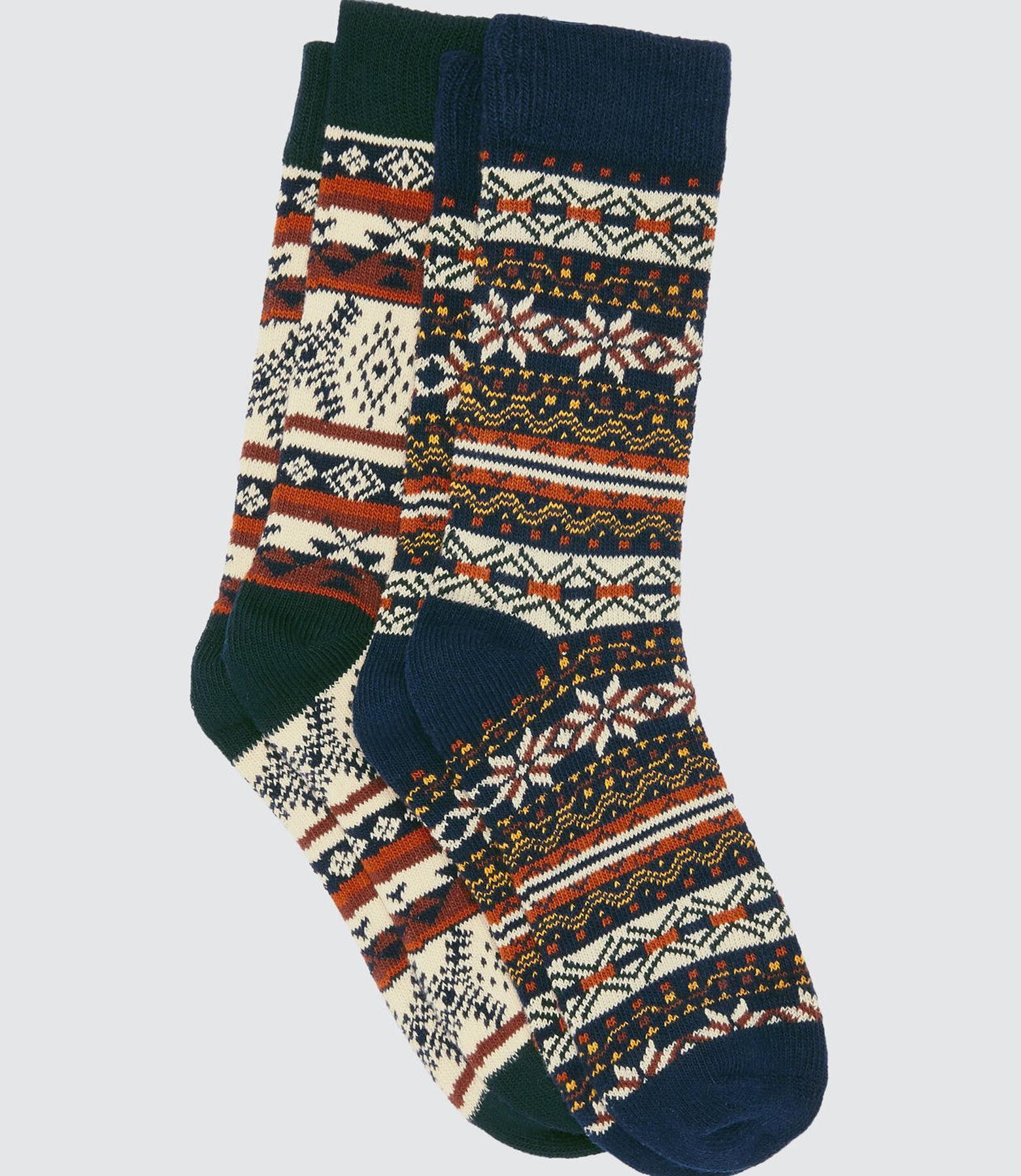 Lot*2 Chaussettes Hautes Motifs Ethniques