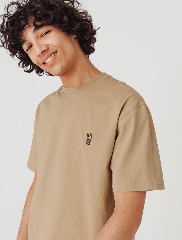 T-shirt imprimé devant dos Beer pong