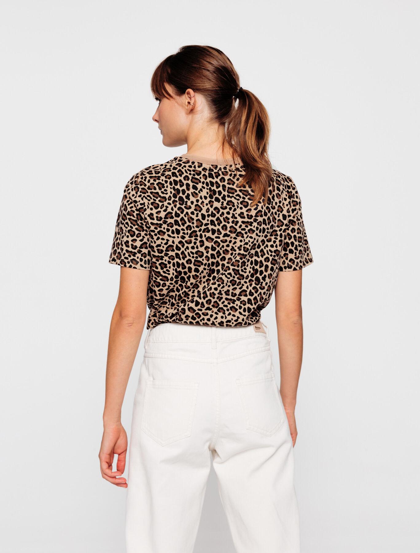T-shirt léopard et message broderie CHEERS