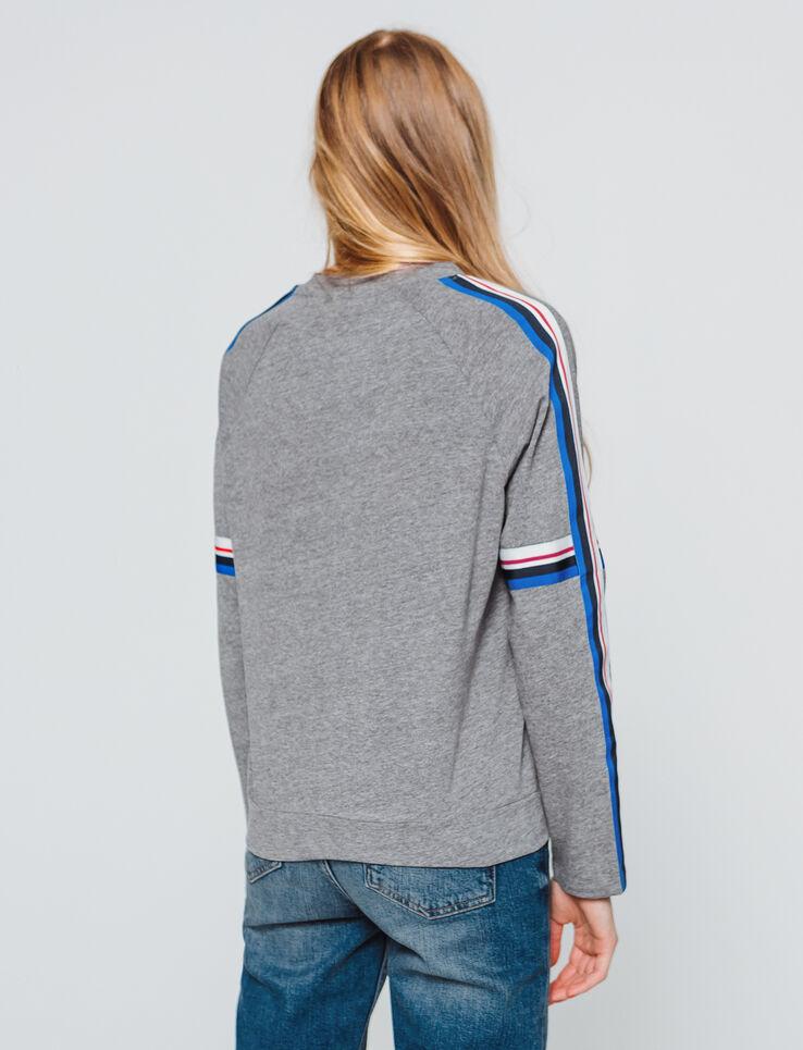 T-shirt manches longues avec bandes rayés