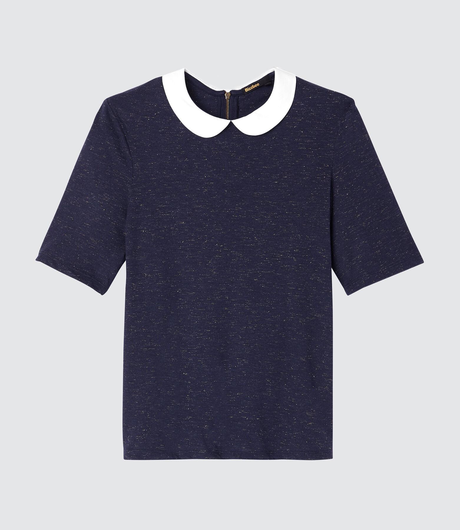 T-shirt fantaisie à col contrasté