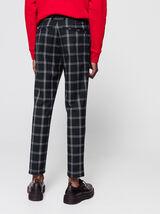 Pantalon de ville à carreaux