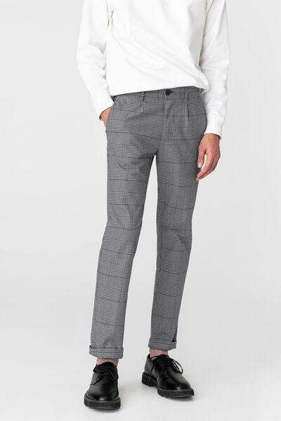 Pantalon à pince à carreaux