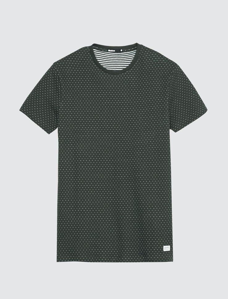 T-shirt jacquard esprit pois
