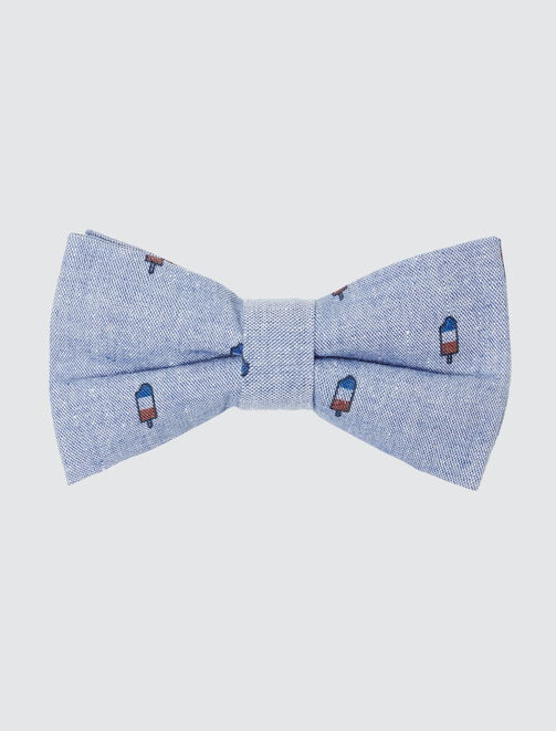 Nœud Papillon Glace Bleu Blanc Rouge homme
