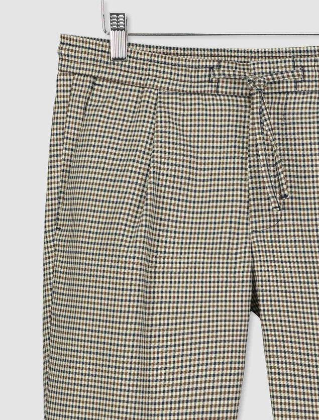 Pantalon city à carreaux