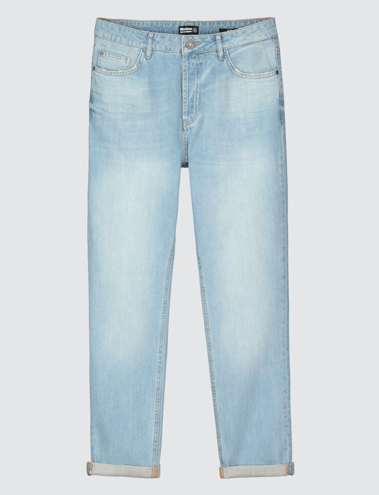 Jean slim délavé coupe tapered