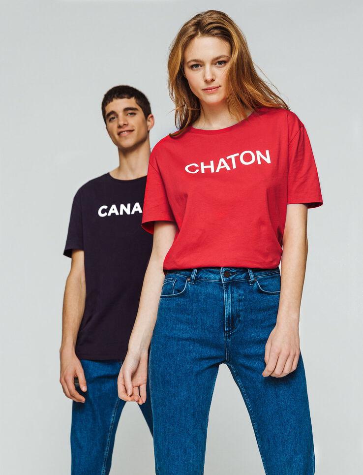 "T-shirt à message ""CHATON"""