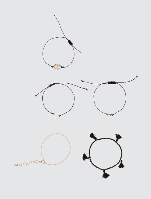 Set 5 Bracelets Panda femme