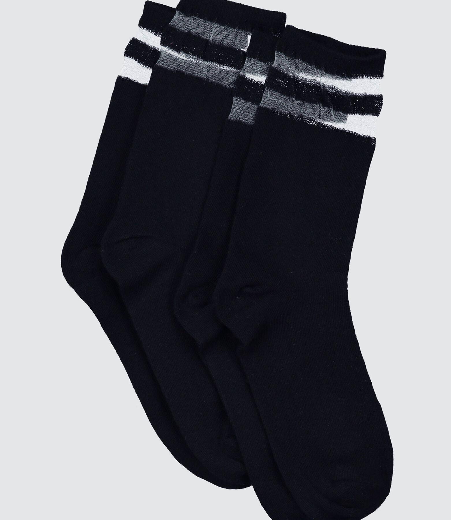 Chaussettes Sport Bandes Transparentes
