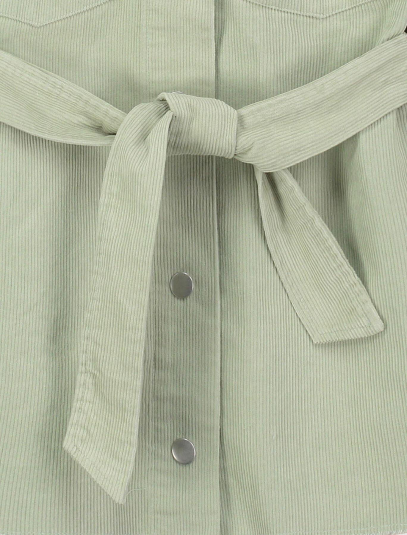 Veste Ceinturée Velours Coton Recyclé