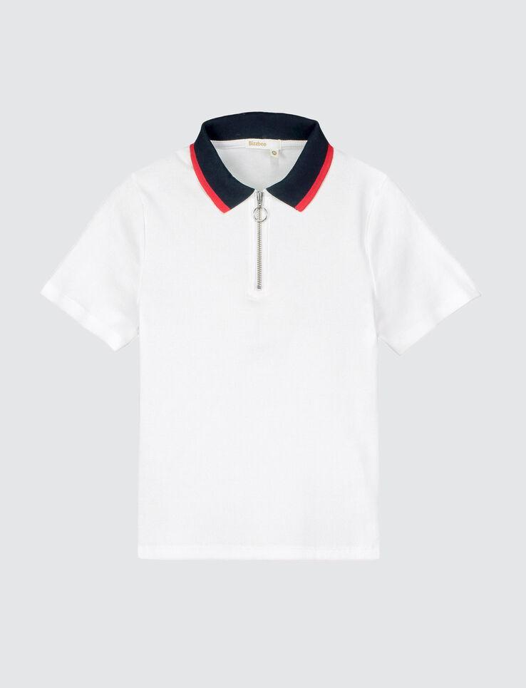 Polo zippé sportif