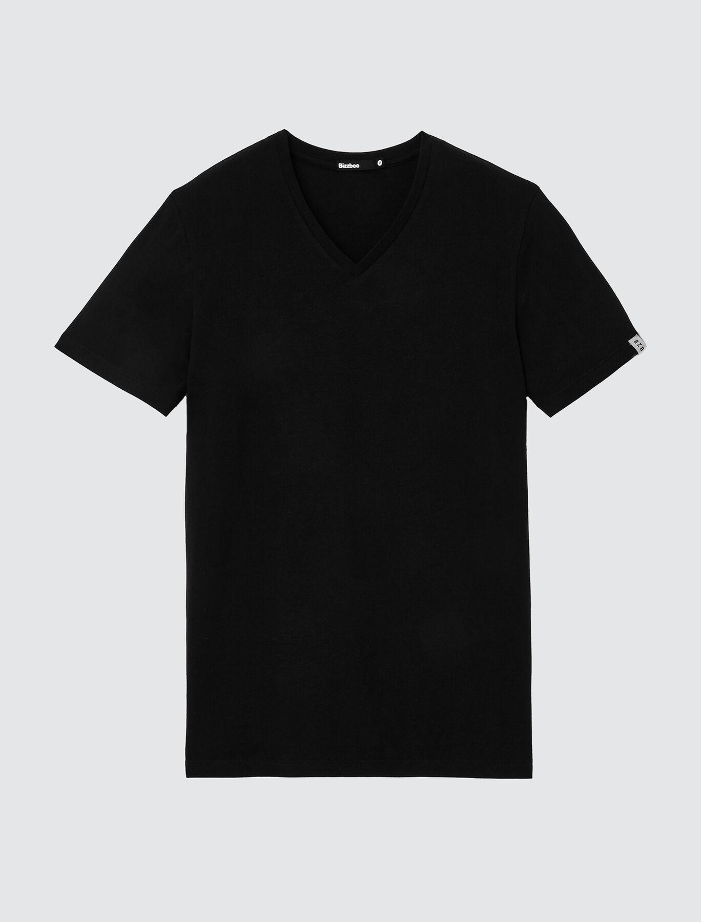 T-shirt uni col V