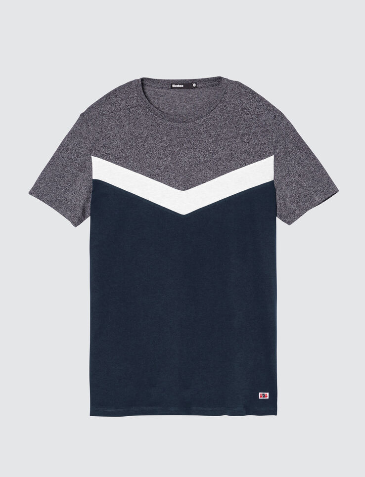 T-shirt colorblock V
