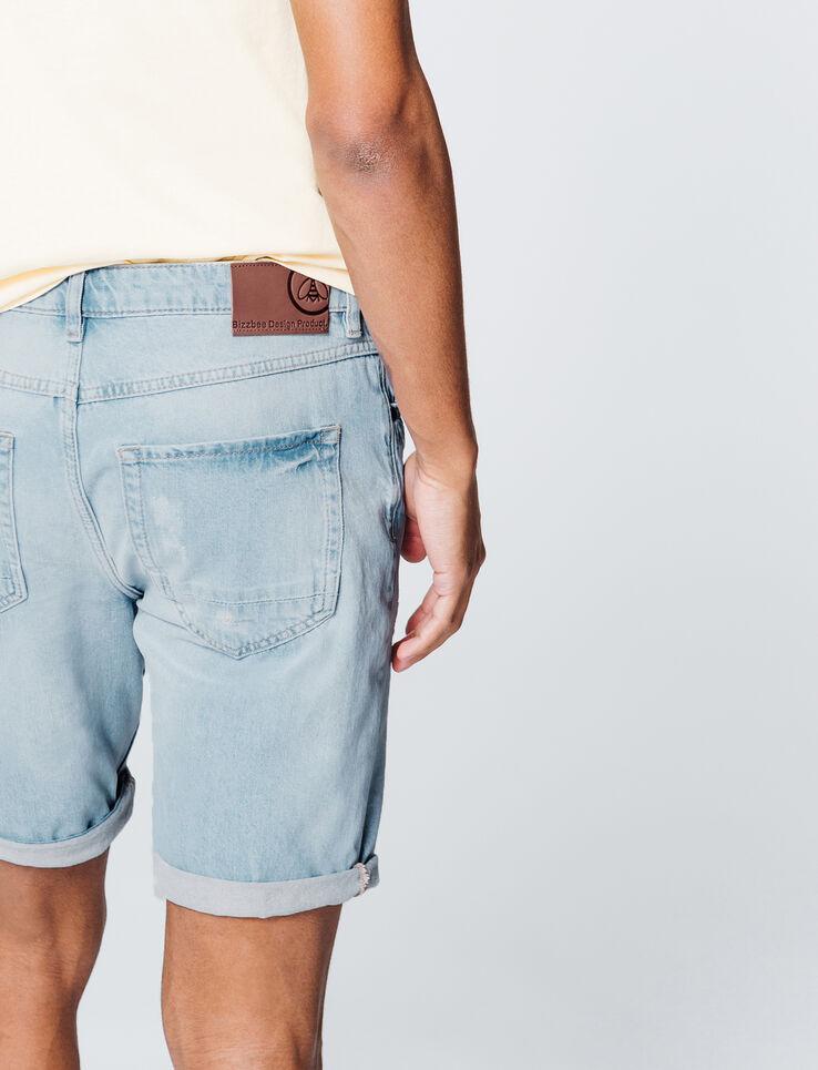 Bermuda en jean bleached