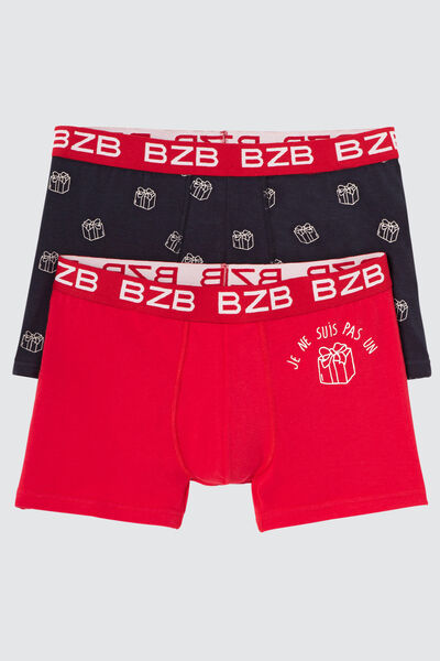Boxers fantaisie Noël boule Lot*2