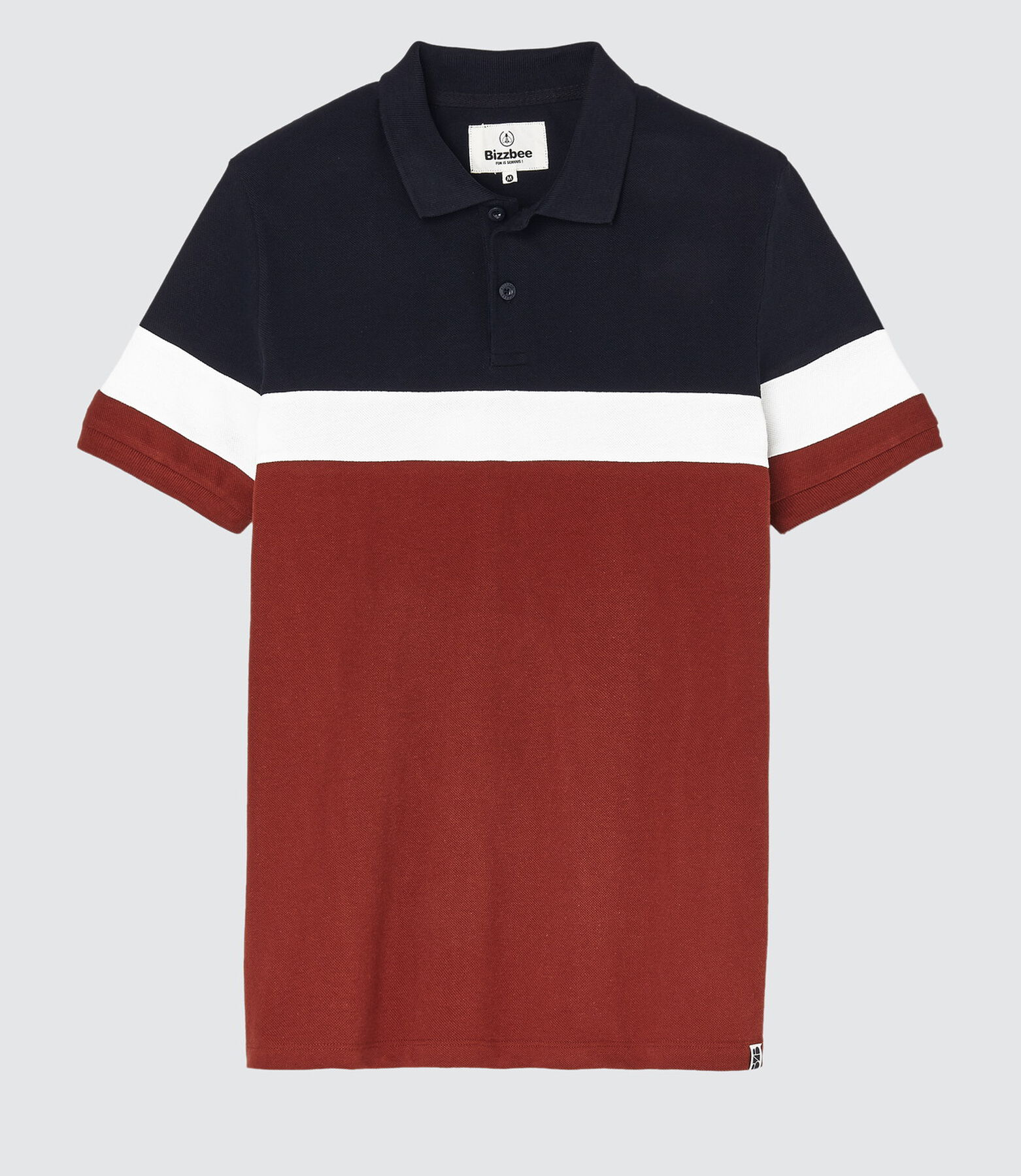 Polo tricolore