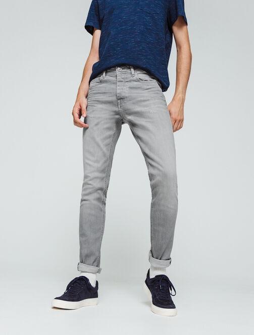 Jean skinny gris clair homme