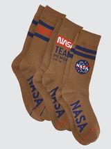 Lot de trois chaussettes hautes Nasa®