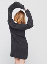 Robe pull avec col amovible