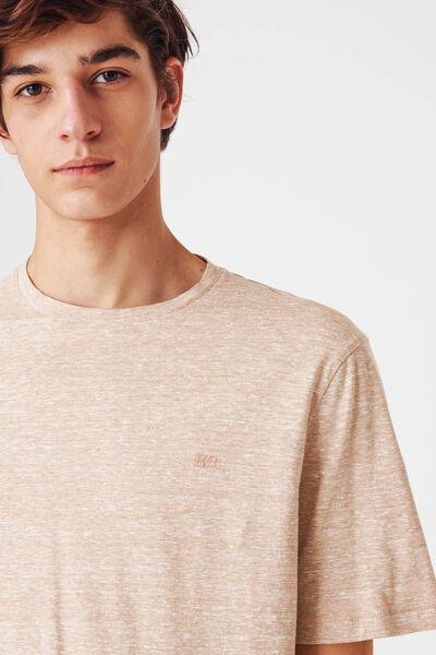 T-shirt flammé fines rayures