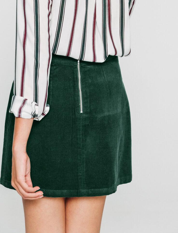 jupe velours côtelé deux poches devant