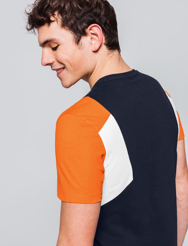T-shirt néo colorblock
