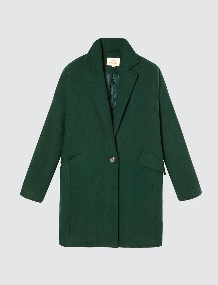 manteau lainage chaud - laine majoritaire