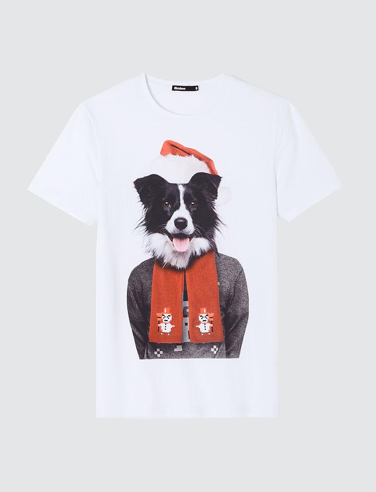 T-shirt photoprint chien noel