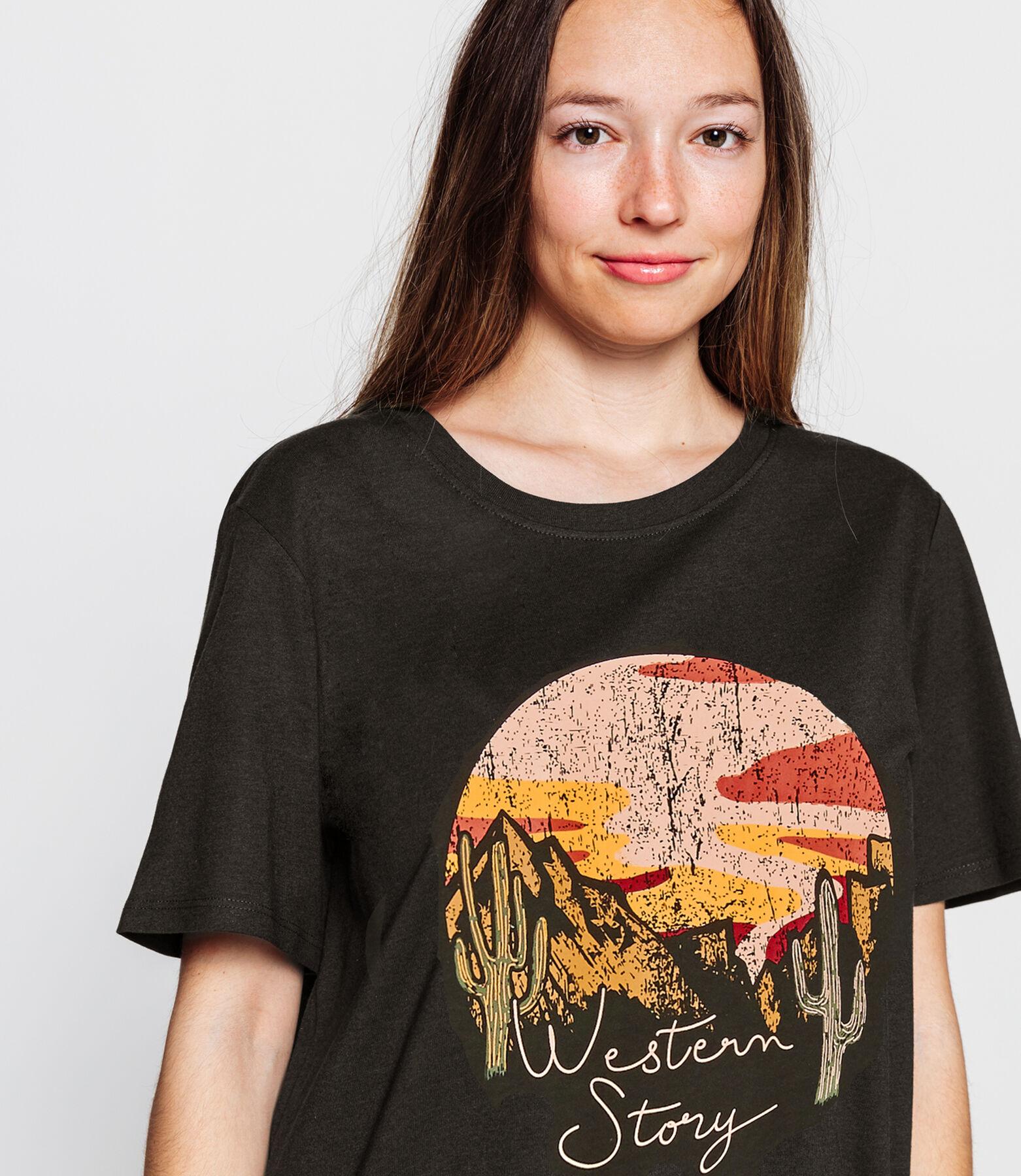 T-shirt paysage esprit western