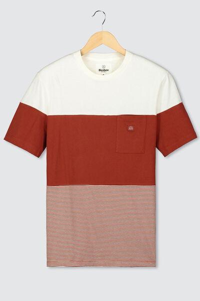 T-shirt colorblock rayé