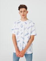 T-shirt imprimé super bowl
