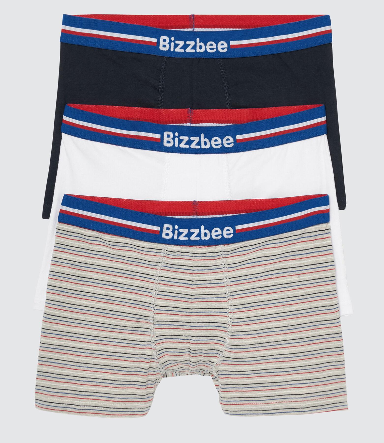 Lot de 3 Boxers ceinture bleu blanc rouge