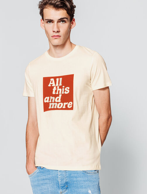 T-shirt à message homme