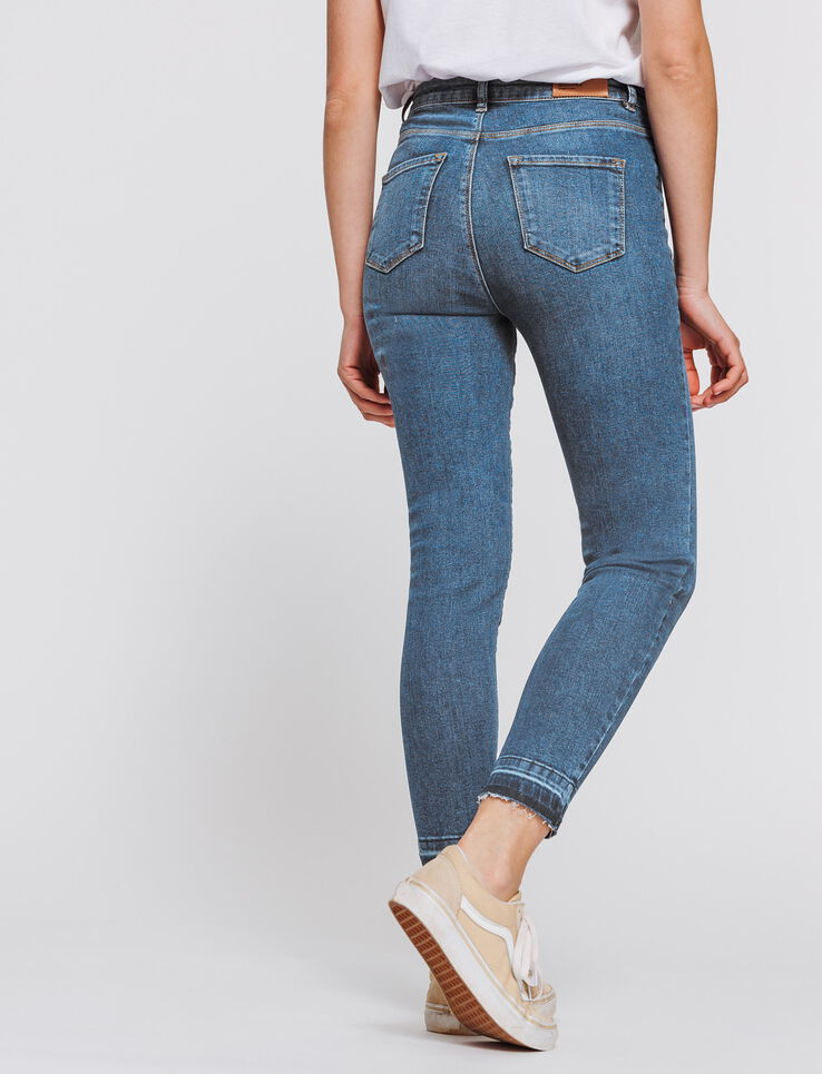 Jeans skinny cropped taille haute