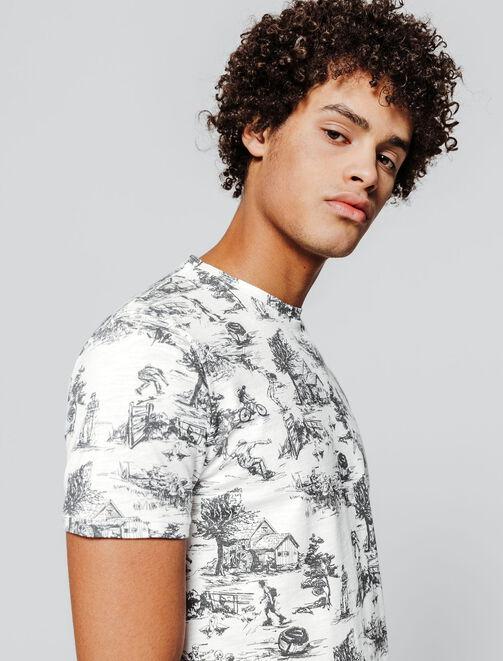 T-shirt toile de jouy homme
